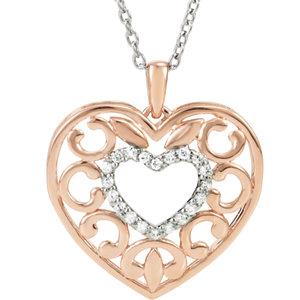 Diamond Heart Fashion Necklace