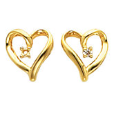 Heart Design Earring Mounting