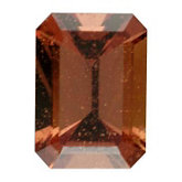 Emerald/Octagon Genuine Orange Sapphire (Black Box)