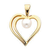 Heart Pendant Mounting for Pearl