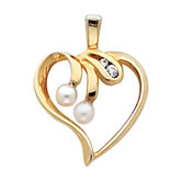Heart Shape Pendant Mounting for Pearl Center