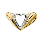 Two Tone Heart  Chain Slide