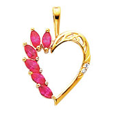 Heart Pendant Mounting for Marquise Center