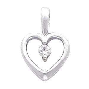 Platinum Diamond Heart Pendant