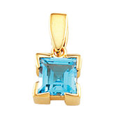 Solitaire Pendant Mounting for Square/Princess Center