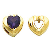 Earring Mounting for Heart Shape Center