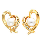 Heart Shape Drop Earring Mounting for Pearl  Center