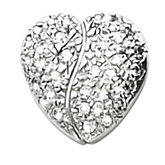 Heart Shape Pave Chain Slide Mounting