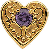 Heart Slide Pendant for Mother Mounting