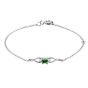 Sterling Silver May Birthstone Bracelet