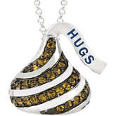 HERSHEY'S KISSES Flat Back Cubic Zirconia Necklace