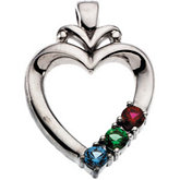Heart Pendant for Mother Mounting