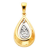 Pave Tear Drop Pendant Mounting