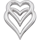 Double Heart Pendant Slide