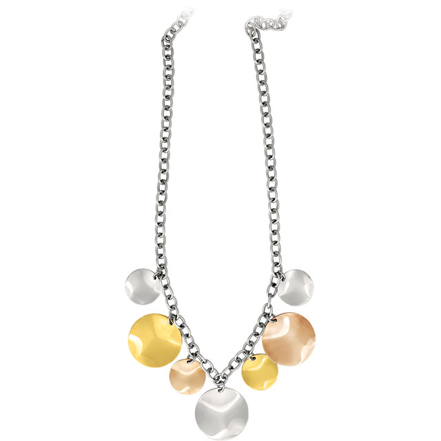 Stainless Steel Tri-Color Necklace