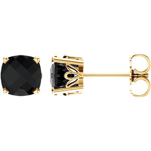 14K Yellow Onyx Earrings