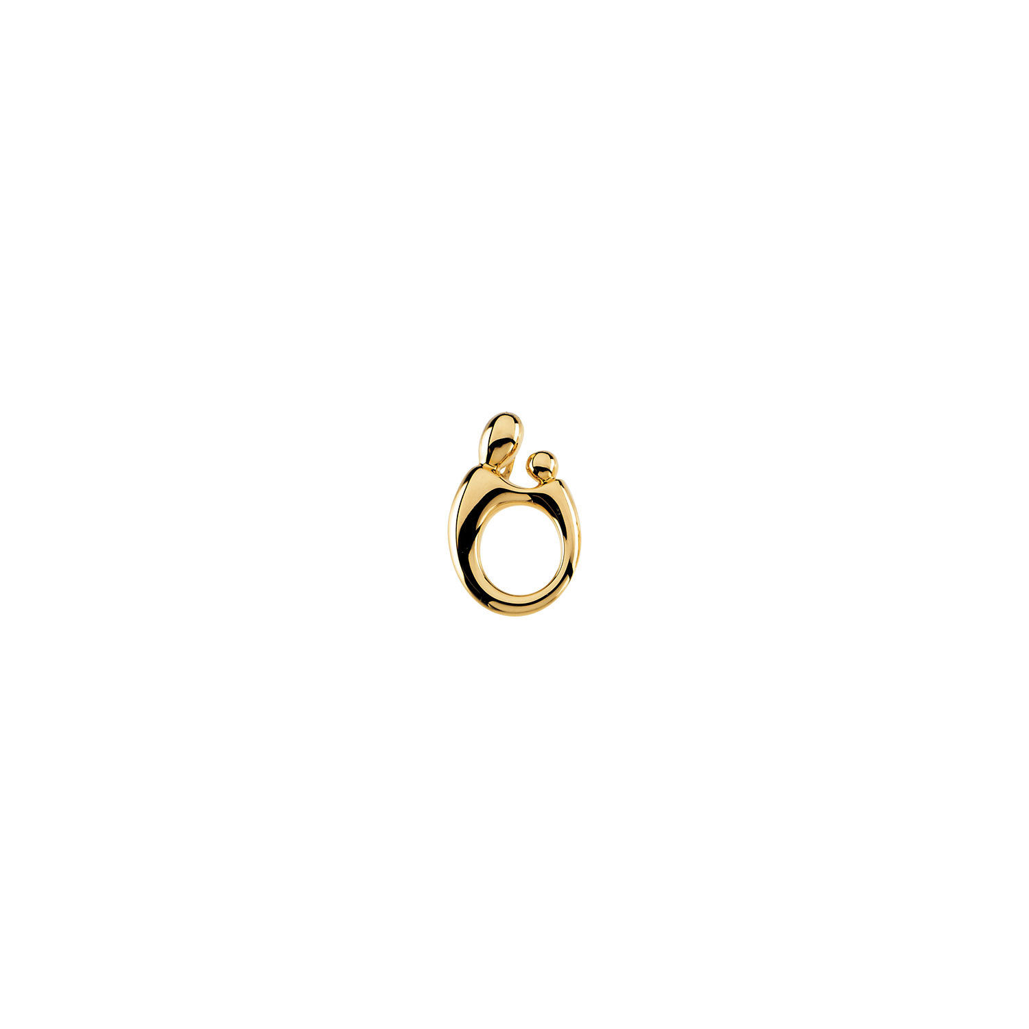 SilverTenet 14K Yellow Gold Mother and Child Hollow Back Pendant - Size: 20.25 X 13.50 Mm - Polished - 30 Day ...