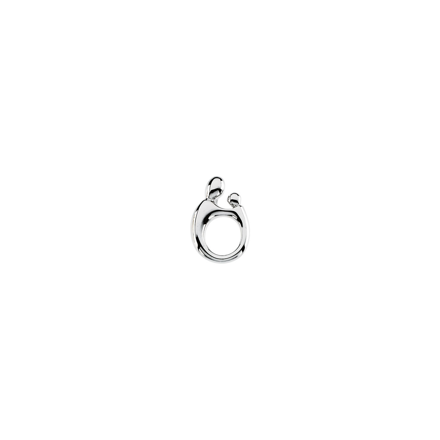 SilverTenet 14K White Gold Mother and Child Pendant - Size: 20.50X13.50 Mm - Mother & Child Lg. Solid Pend - 30 ...