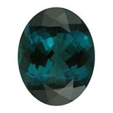Oval Genuine Blue Green Tourmaline (Black Box)