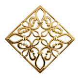 Square or Diamond - Shape Filigree Pendant