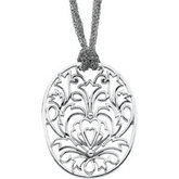 Oblong Filigree Pendant