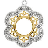 Vintage Style Dangle Mounting for Round Center