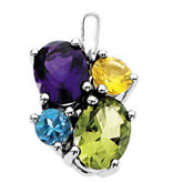 Multiple Stone Color Fashion Pendant Mounting