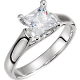 4-Prong Woven Solitaire Engagement Ring
