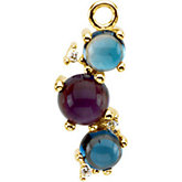 Multiple Stone Color Fashion Dangle Mounting