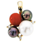 Multiple Pearl Fashion Pendant Mounting