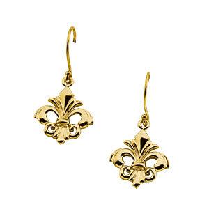 Gold Fashion Fleur-de-lis Earrings
