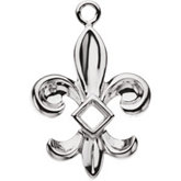 Fleur-de-lis Dangle Mounting for Square/Princess Center