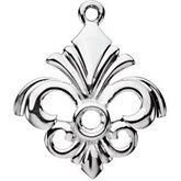 Fleur-de-lis Dangle Mounting for Round Center