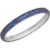 Blue Sapphire Eternity Pave Band