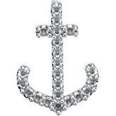 Petite Anchor Pendant Trim for Diamonds