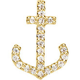 Petite Anchor Diamond Anchor Pendant or Trim