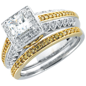 14kt White 1/1  ATW Diamond Band