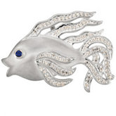 Beta Fish Brooch Mounting