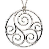 Scroll Fashion Pendant
