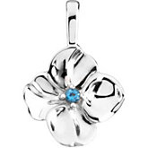 Floral Pendant Mounting  for Round Center