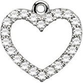 Petite Heart Dangle Mounting
