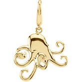 Gold Fashion Octopus Charm