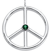 Peace Sign Pendant Mounting