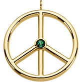 Genuine Topaz Peace Sign Pendant