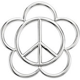 Flower Peace Sign Pendant