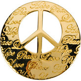 Hope, Life, Peace, Love Engraved Pendant