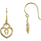 Petite Heart Lock Earrings