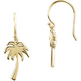 Petite  Palm Tree Earrings