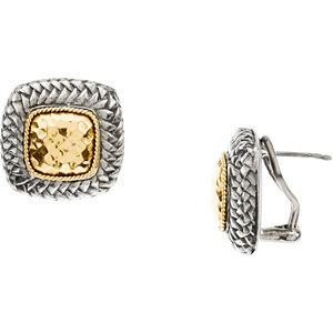 Two Tone Fashion Earrings