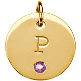 Posh Mommy® Engravable Mini Disc Pendant Mounting